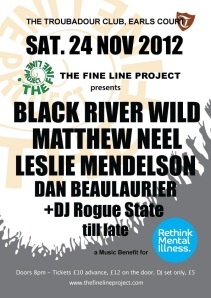 The Fine Line Project Benefit for Rethink Mental Illness at The Troubadour Club 24/11/12