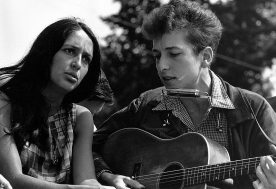 Joan Baez Bob Dylan Creative Commons