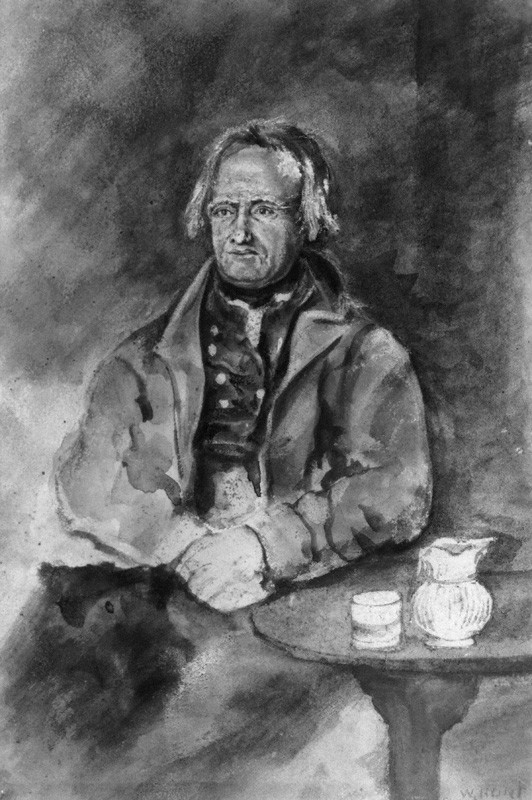 NPG 3843; Unknown man, formerly known as John Clare by William Henry Hunt